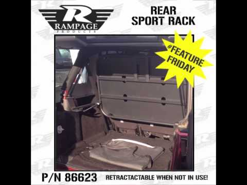 Rear Sport Rack- R&age Products #86623 - Feature Friday! & Rear Sport Rack- Rampage Products #86623 - Feature Friday! - YouTube