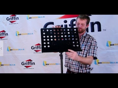 Griffin Conductor Music Stand Review and Product Demonstration Model AP3505