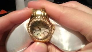 Guess Mini Rock Candy Gold Plated Ladies Watch