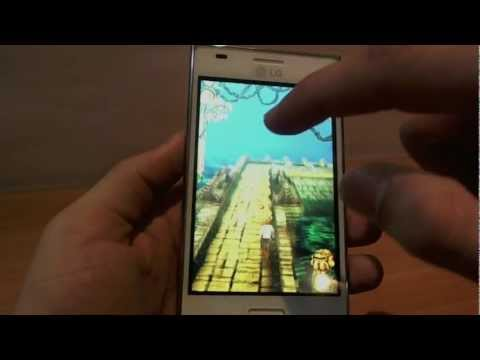 LG Optimus L5 display and gaming review video