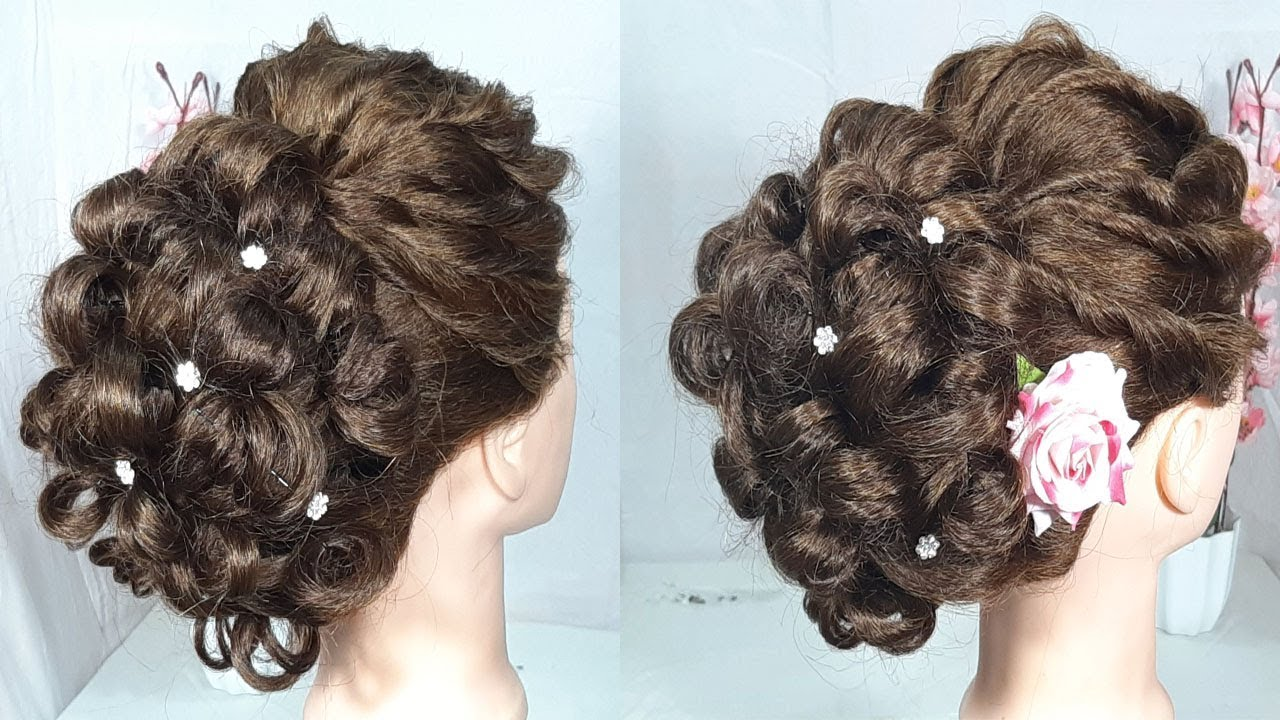 beautiful hairstyle for wedding and party || hairstyles for