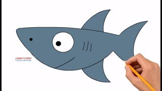 How to Draw a Shark, Very Easy & Simple For Kids