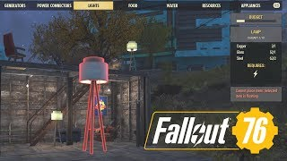 Fallout 76 Electricity Guide Camp Settlement; Building Lights, Power Generator, Conduits
