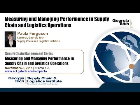 Measuring And Managing Performance In Supply Chain And Logistics Operations