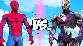 SPIDER-MAN VS IRON MAN ZOMBIES (MARK 85)