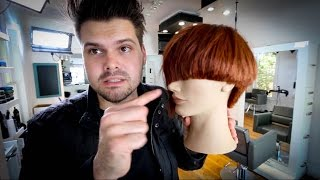 Asymmetrical Bob Haircut Tutorial | MATT BECK VLOG 45