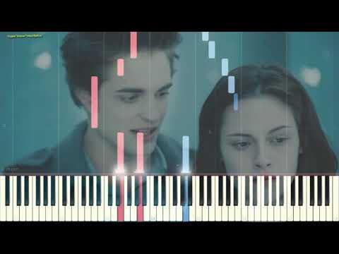Bella's Lullaby - Carter Burwell (Сумерки) (Ноты и Видеоурок для фортепиано) (piano Cover)