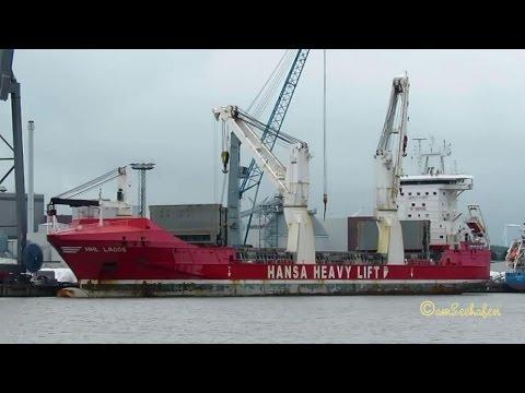 HHL LAGOS V2FK4 IMO 9448358 heavy lift cargo seaship merchant vessel Emden