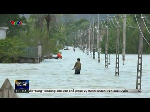 Teile von Vietnam unter Wasser