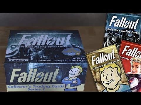 Unboxing The Fallout Collector's Trading Card Series 1!