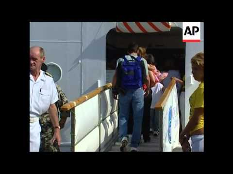 American And Belgian Citizens Leave The Country