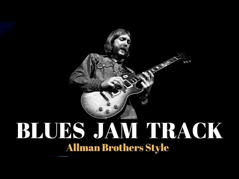 Blues Guitar Backing Jam Track // Allman Brothers Style (D)