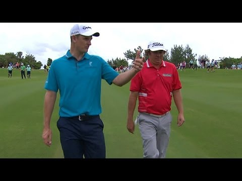 2013 Grand Slam of Golf: Jason Dufner and Justin Rose talk football