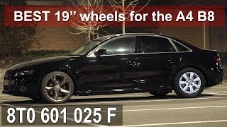 Check these wheels out ... they are original audi, sit flush with your fenders, don't rub, and a bargain. using audi a5 on the a4 w...