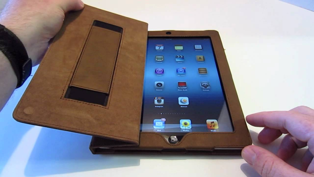 review snugg distressed brown leather case ipad 2 3 youtube