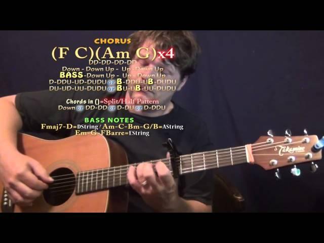 Next Time Its 3am Nate Kenyon Guitar Lesson Chord Chart Capo 6th