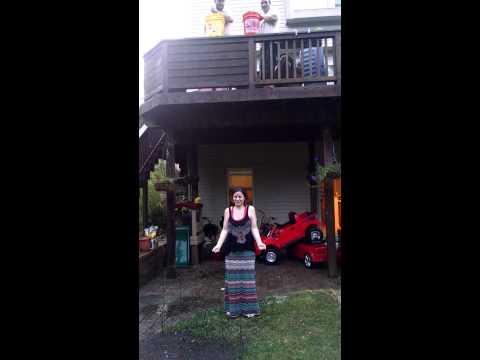 Als ice bucket challenge. Amanda Vidican.
