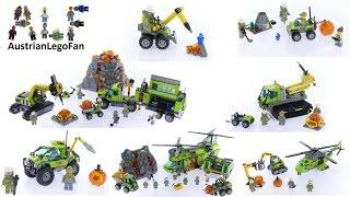 All Lego City Volcano Explorers Sets 2016 - Lego Speed Build Review