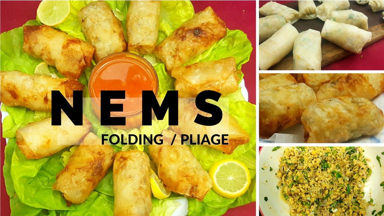 Pliage des nem folding nem sheets cuisine malagasy for Cuisine vietnamienne