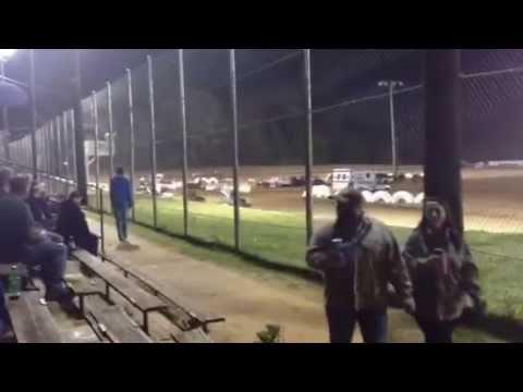 Noah Burlison wreck at I-30 Speedway ASCS Show 4-6-2013