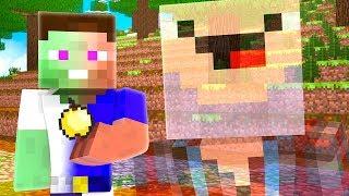 Как Дед Нуб исцелил Зомби Владуса? Нуб учит нуба как играть в Майнкрафт