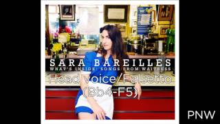 """Sara Bareilles Vocal Range  - """"What's Inside: Songs From Waitress"""" (Eb3-F5)"""