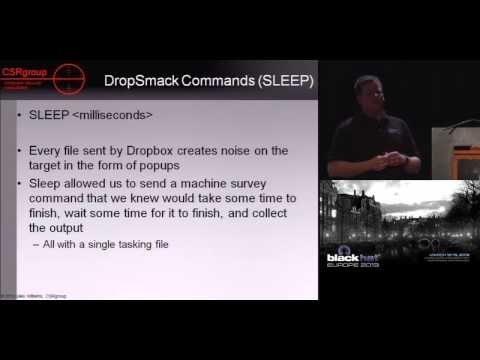 Black Hat EU 2013 - DropSmack: How Cloud Sync Services Render Your Corporate Firewall Worthless