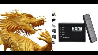 5 Ports 1080p HDMI Switch Splitter Hub / Обзор 5 портовый HDMI Switch