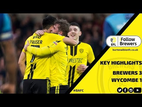 MATCH HIGHLIGHTS | Burton Albion 3-1 Wycombe Wanderers