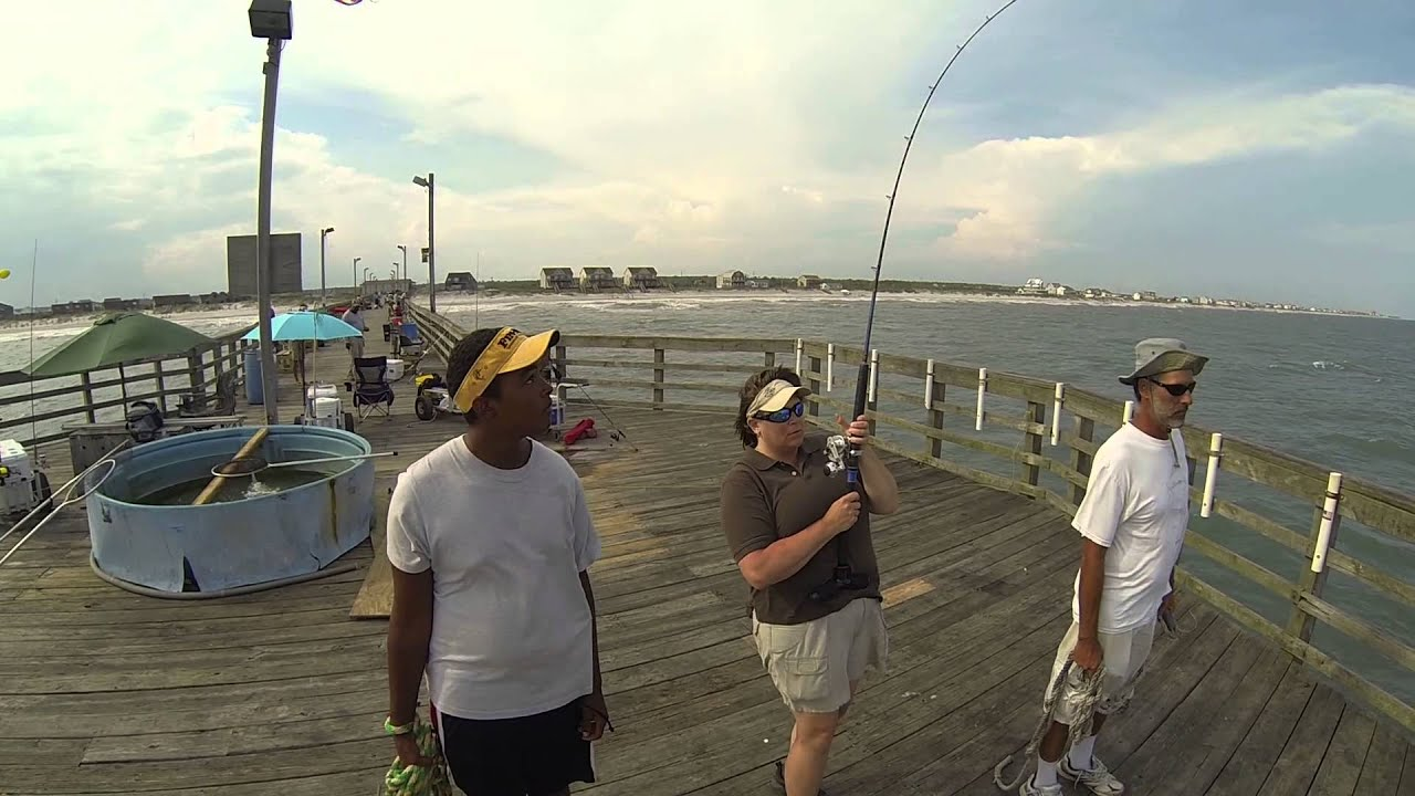 Karen clark king mackerel on seaview fishing pier for Seaview fishing pier