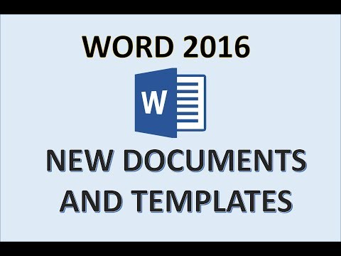 Word 2016 - Creating Documents - How To Create A New Document & Searching For Templates In MS Office