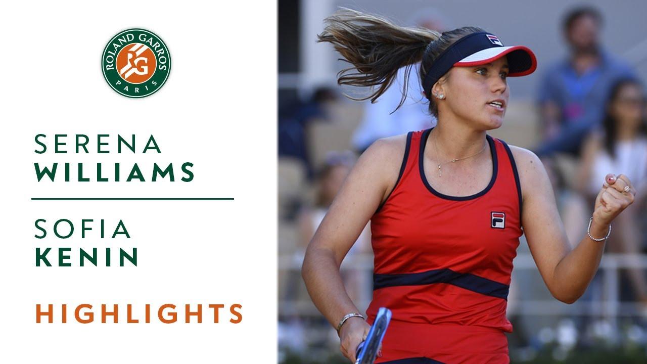 Serena Williams Vs Sofia Kenin Round 3 Highlights Roland Garros 2019 Youtube