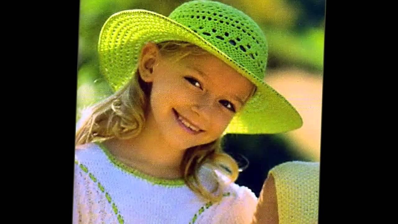 схема вязаных крючком детских шапочек