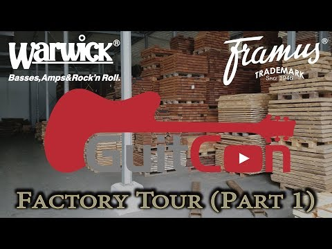 GuitCon in 4k: Warwick Factory Tour: Part 1 - Wood Selection, Drying and Library