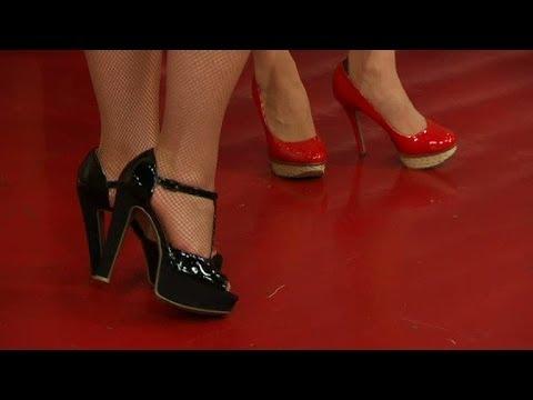 Mrs Murphy lär dig gå i höga klackar med stil - Nyhetsmorgon (TV4 ... b93a2112c135c