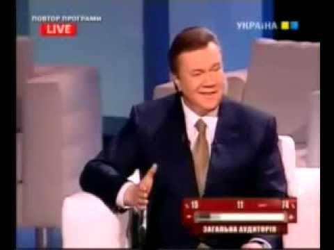 Янукович рассказал для Тимошенко анекдот про негра и сало