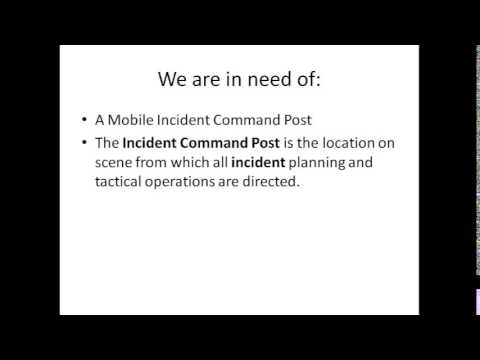 Mobile incident command post
