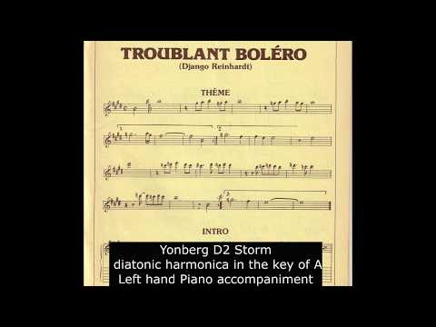 Troublant Boléro On Diatonic Harmonica