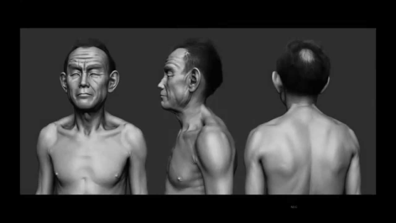 Old Male Anatomy Zbrush Turnaround (old work) - YouTube