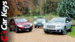 We take the Subaru XV, Subaru Outback and Subaru Forester Off-Road - Car Keys