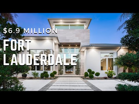 Tour This Spectacular Waterfront Fort Lauderdale Modern Mansion $6.9M