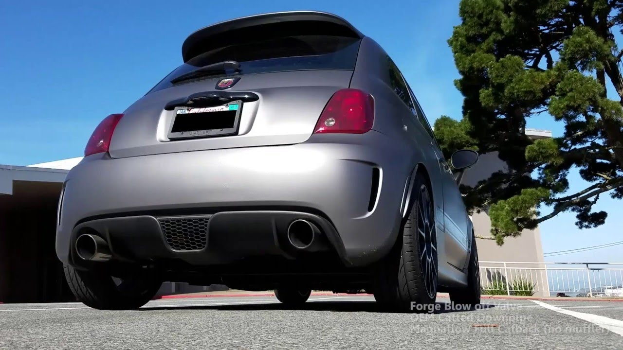 2013 fiat abarth bov downpipe exhaust symphony - youtube