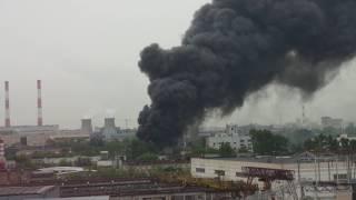 Пожар на Юго-востоке Москвы!