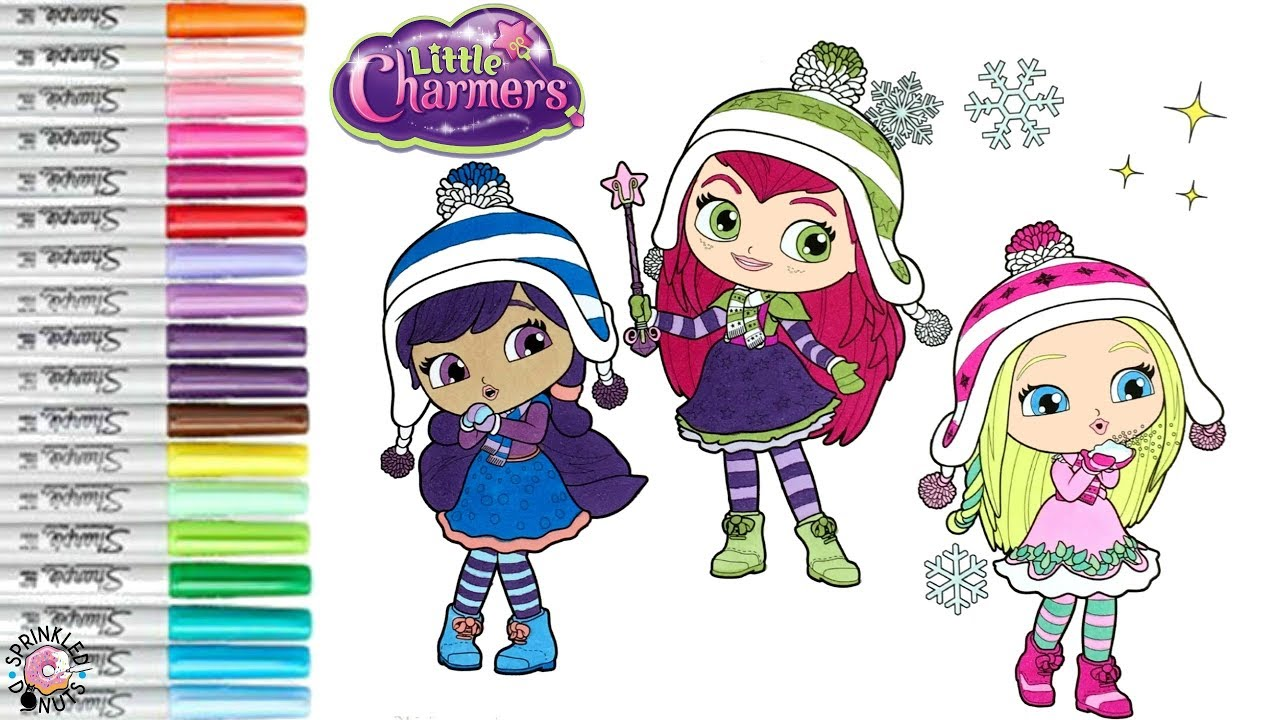 little charmers coloring pages Little Charmers Coloring Book Page Little Charmers Hazel Lavender  little charmers coloring pages