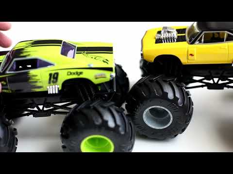 Green Black Dodge Charger R T Hot Wheels Monster Trucks 1 24 Scale Youtube