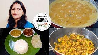 Indian Mom || House Wife Simple Lunch Routine Vlog || Dondakaya Fry Recipe