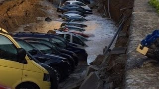 This Sinkhole Swallowed More Than A Dozen Cars In Florence, Italy