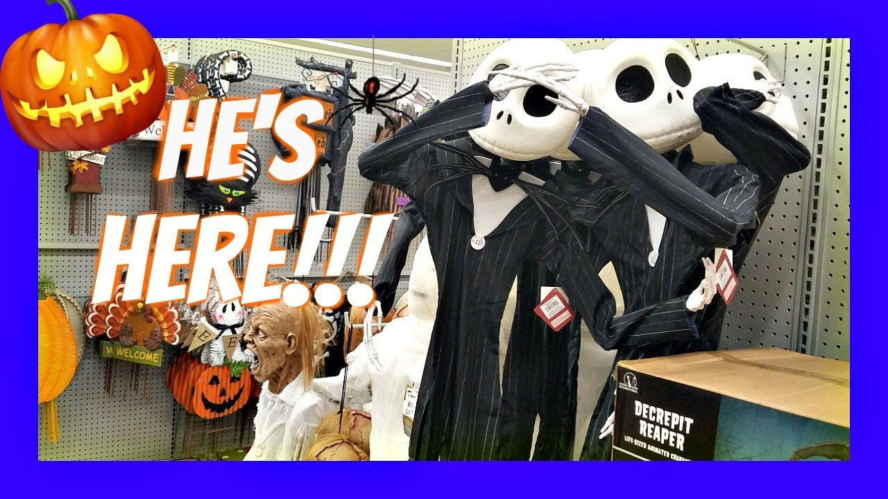 new at home store halloween decorations walkthough merchandise 2017