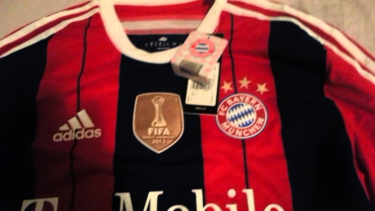 Adidas Bayern Munchen 2014-15 jersey player issue - YouTube 069c377060e46