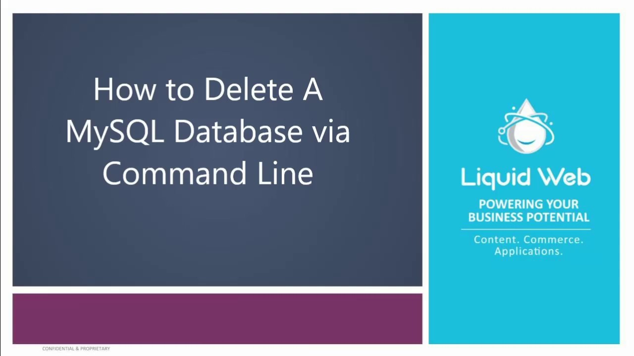 3 Tips For Working With a MySQL Database! | Liquid Web